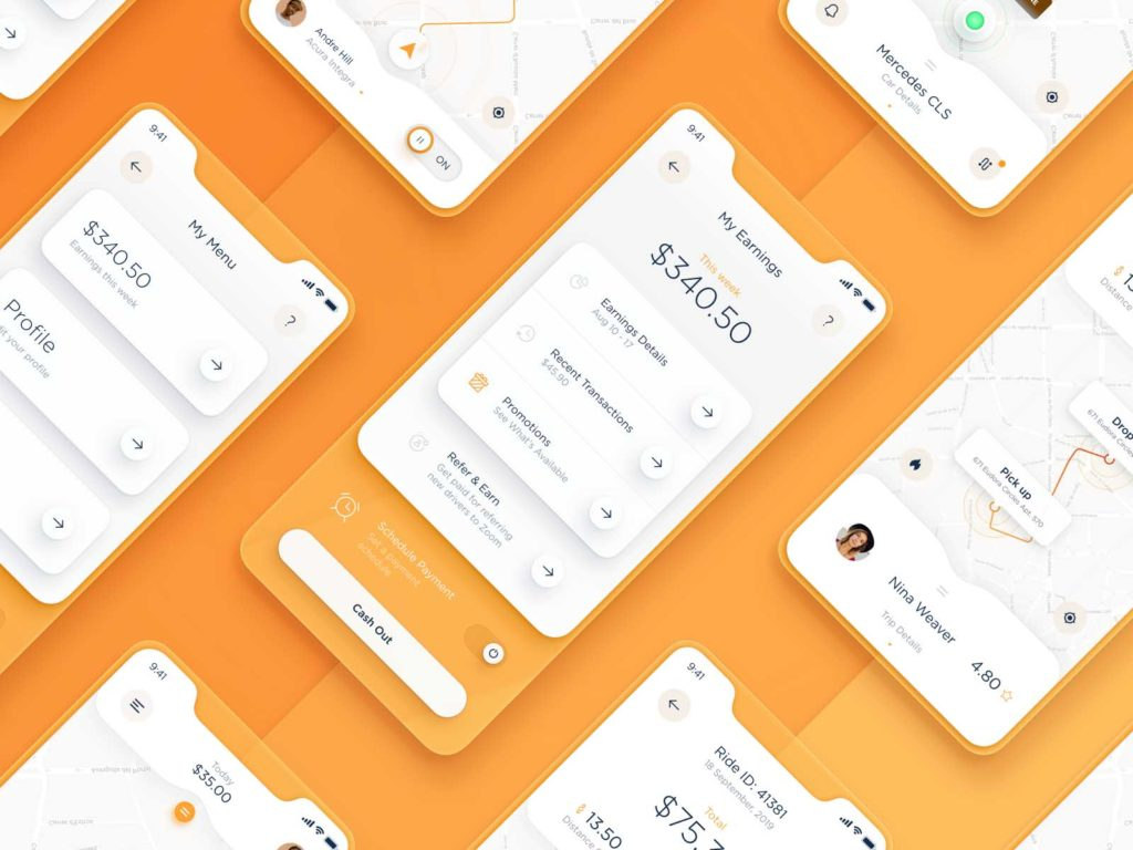 Floating elements and shadows app and website design trends 2020